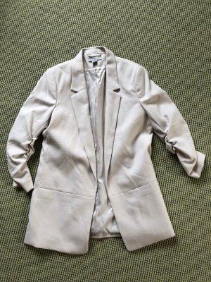 H&M Boyfriend Blazer natural white-white polyester