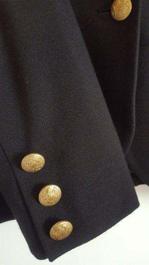 Hallhuber Veste de smoking noir tissu mixte
