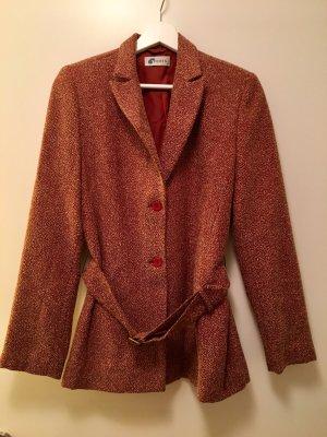 Tweed blazer licht beige-karmijn Gemengd weefsel