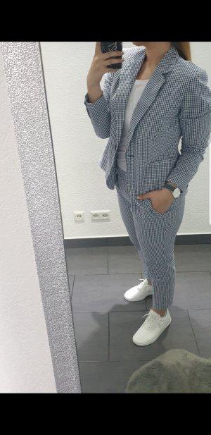 Zara Smokingblazer wit-blauw