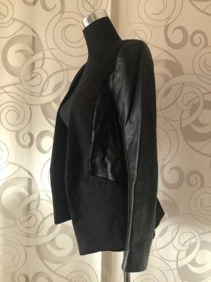 H&M Leather Blazer black