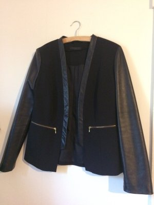 s.Oliver Leather Blazer black