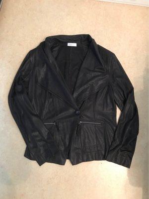 Bonita Leather Blazer black brown