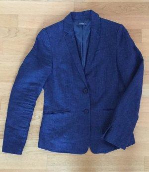Blazer mit Leinen, Esprit, Gr. 36, Blau, selten getragen