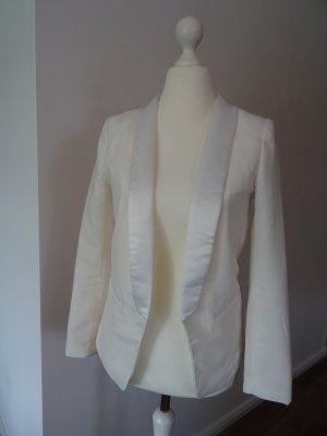 H&M Tuxedo Blazer white-natural white polyester