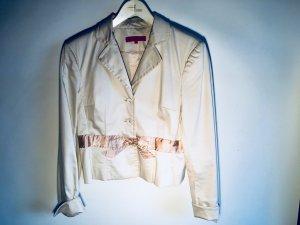 Blazer mit Schleife in beige/rosé von Hallhuber Gr. 40