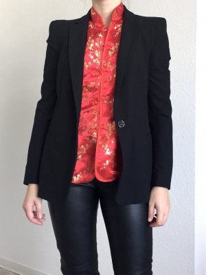 Zara Basic Blazer de esmoquin negro
