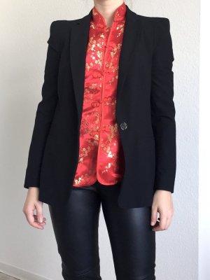 Blazer mit Schulterpolster 80s Syle von Zara Basic in Schwarz