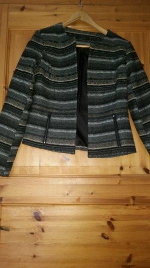 Blazer mit schwarz-grau Muster
