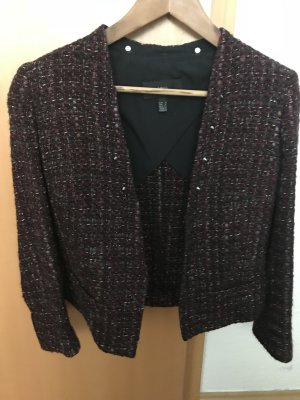 Mango Tweed blazer roodbruin-bordeaux