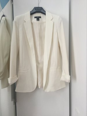H&M Blazer long blanc cassé