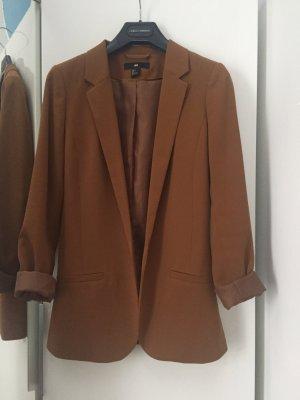 H&M Long Blazer cognac-coloured-brown