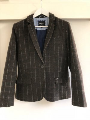 Pepe Jeans Wool Blazer dark brown