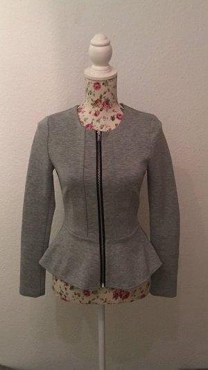 H&M Blazer en jersey gris clair-gris