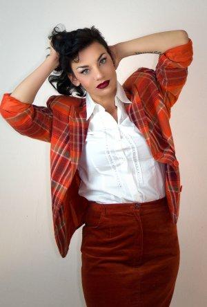 Blazer-Rock, Kostüm in Karo / Samt, Vintage Fashion