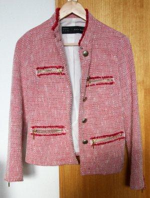 Blazer rosa / weiß von Zara