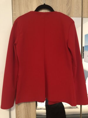 Boohoo Jersey Blazer dark red