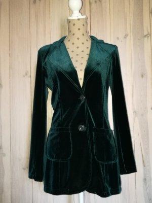Blazer Samt  36/38 Emerald green