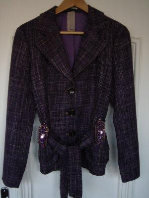 Blazer, Schuhmacher, Gr. 36, Tweed, mit Gürtel