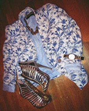 Blazer Schulterpolster Zara XS / 34 Blumen
