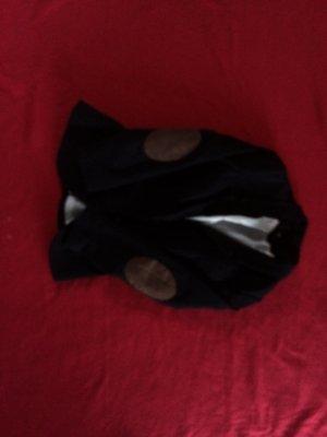 Blazer schwarz mit Braunen Aufnähern
