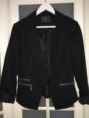Blazer schwarz mit Reißverschlüssen an den Seiten