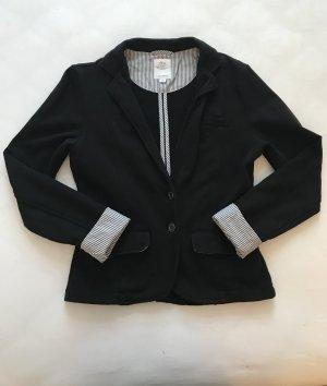 s.Oliver Wool Blazer black-white cotton