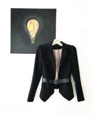 blazer / schwarz / vintage / classy / boho / schösschen / businesslook