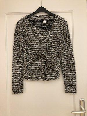 H&M Gebreide blazer zwart-wit
