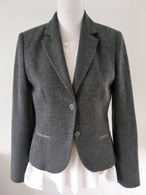 s.Oliver SELECTION Wool Blazer dark grey-anthracite mixture fibre