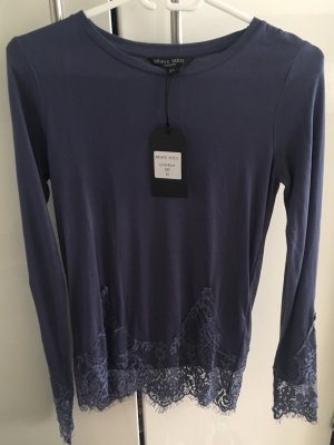 Brave Soul Long Sleeve Blouse steel blue mixture fibre