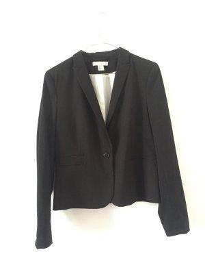 Blazer Slim Fit Kurz schwarz Gr. 40 Businesslook