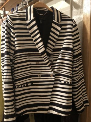 Mango Suit Blazer corto blanco-negro