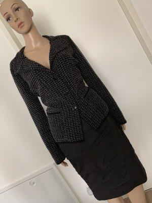 Armani Collezioni Knitted Blazer black-silver-colored