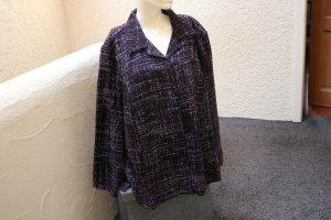Blazer in tweed nero-viola Acrilico