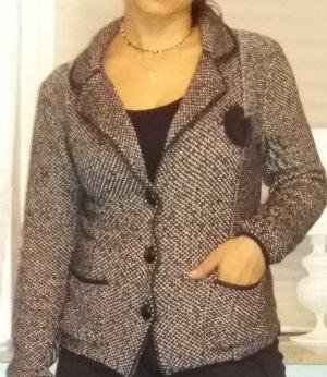 Basler Wollen blazer beige-zwart
