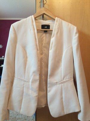 H&M Blazer corto crema-beige chiaro