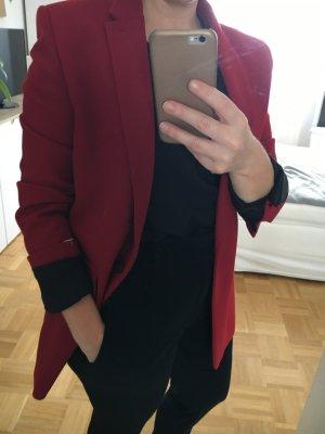 The Kooples Blazer stile Boyfriend rosso scuro