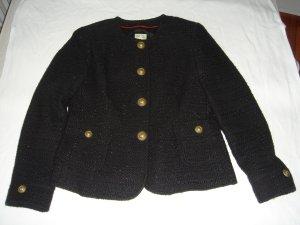 Blazer, Tweed, Brigitte von Schönfels, Gr. 38, schwarz