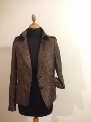 Blazer Übergang Jacke Made in Italy braun bronze gold royal Jagd Zierknöpfe
