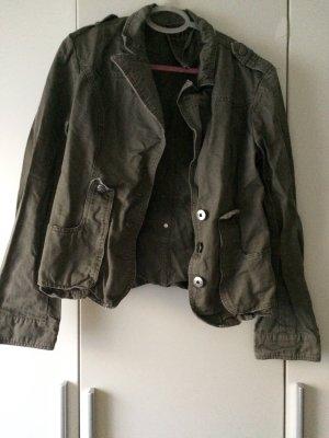 Overgangsjack groen-grijs-khaki