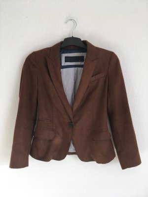 Zara Blazer in pelle marrone