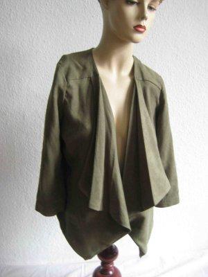Blazer Vero Moda, luftiges Revers, khaki-grün, casual Chic