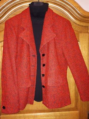 Blazer en laine rouge-noir tissu mixte