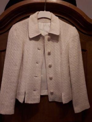 Blazer in lana bianco sporco Tessuto misto