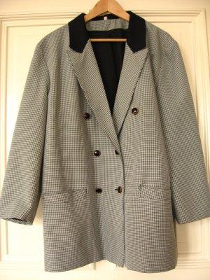 Blazer Vintage Oversize Schwarz Weiß Jacket Oxford British Hahnentritt