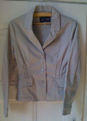 Armani Jeans Blazer light grey-natural white cotton