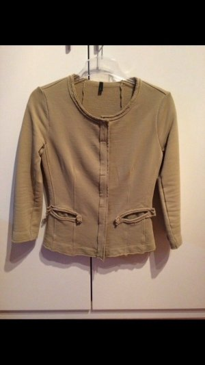 Benetton Knitted Blazer grey brown-khaki