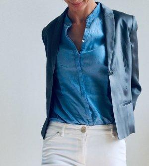 Calvin Klein Blazer de esmoquin color plata-gris