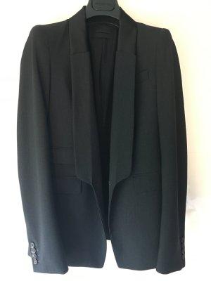 Diesel Black Gold Blazer long noir-gris anthracite tissu mixte